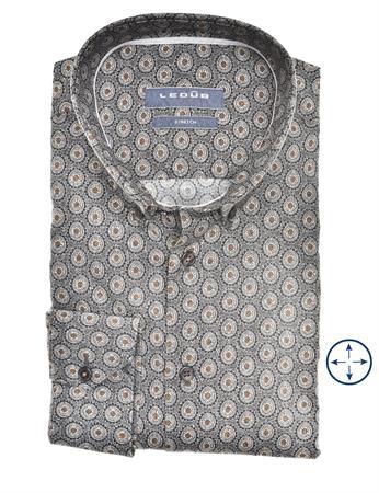 Ledub business overhemd Modern Fit 0140628 in het Grijs