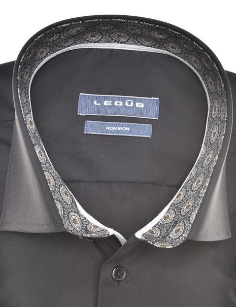 Ledub business overhemd Modern Fit 0140636 in het Zwart / Grijs