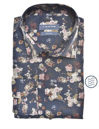 Ledub business overhemd Modern Fit 0140732 in het Donker Blauw