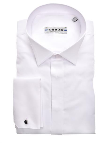 Ledub business overhemd Modern Fit 0322782 in het Wit