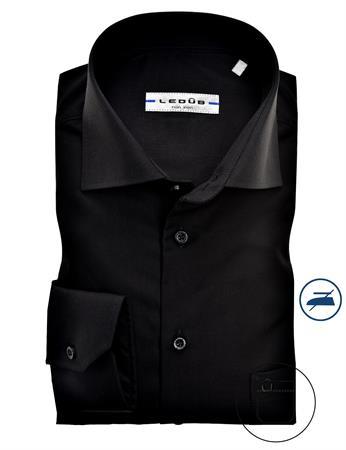 Ledub business overhemd Modern Fit 0323508 in het Zwart