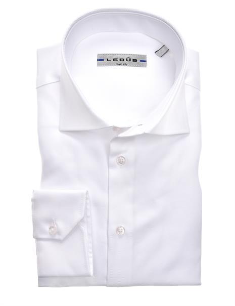 Ledub business overhemd Modern Fit 0323511 in het Wit