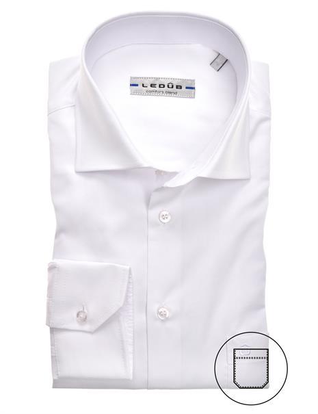 Ledub business overhemd Modern Fit 0323702 in het Wit