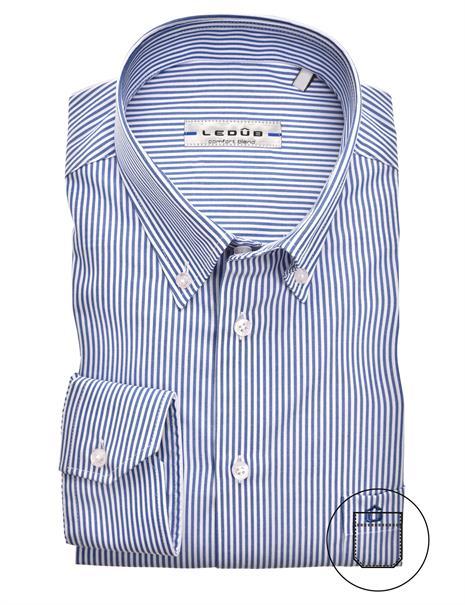 Ledub business overhemd Modern Fit 0324515 in het Donker Blauw