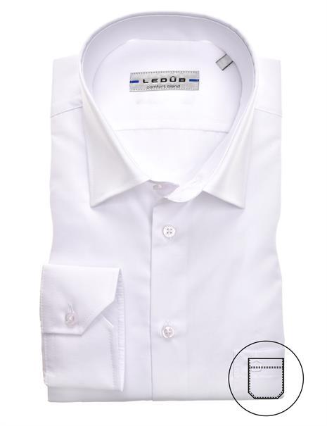 Ledub business overhemd Regular Fit 0315502 in het Wit