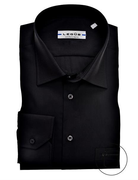 Ledub business overhemd Regular Fit 0315502 in het Zwart