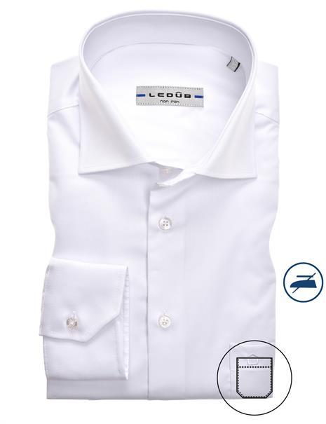Ledub business overhemd Slim Fit 0343508 in het Wit
