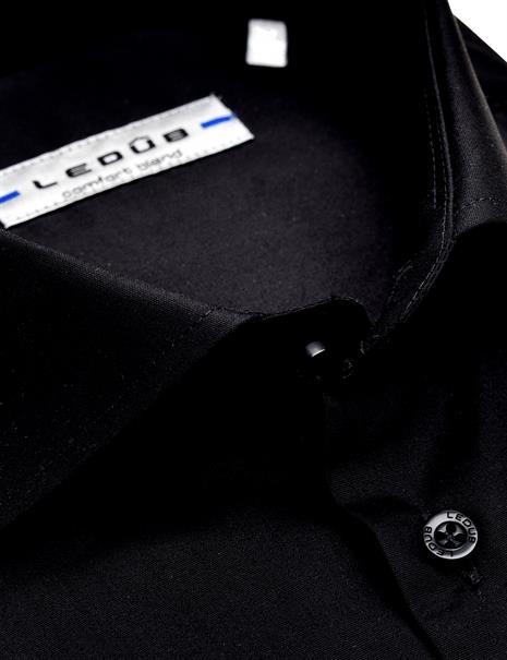 Ledub business overhemd Slim Fit 0343512 in het Zwart