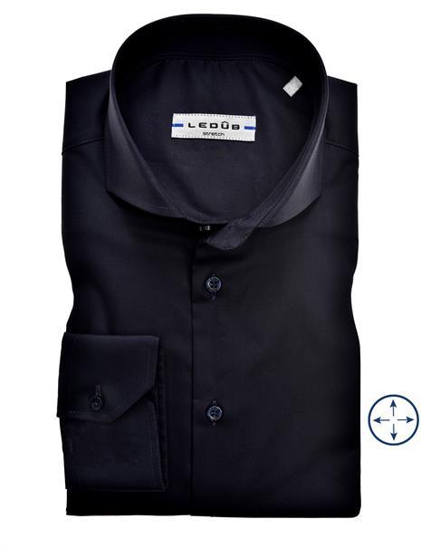 Ledub business overhemd Slim Fit 0346510 in het Donker Blauw