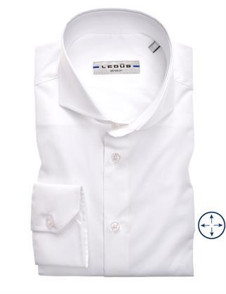 Ledub business overhemd Slim Fit 0346510 in het Wit