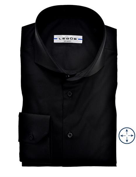 Ledub business overhemd Slim Fit 0346510 in het Zwart