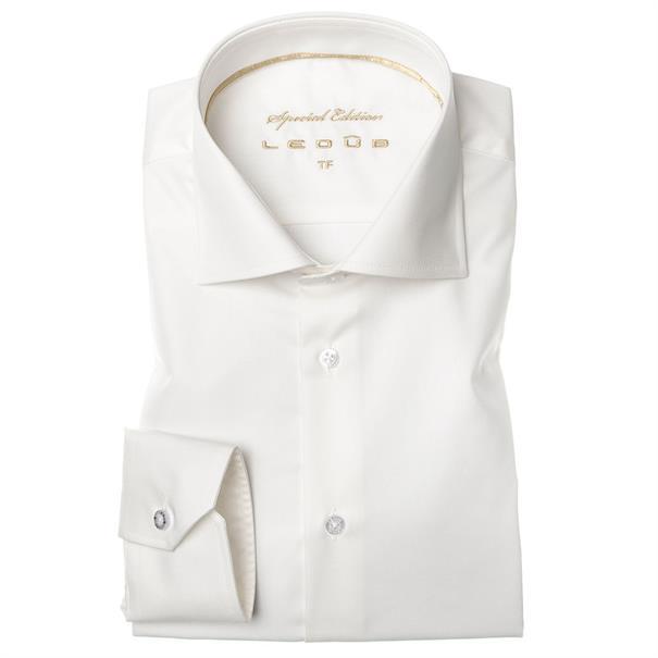Ledub business overhemd Tailored Fit 0033548 in het Offwhite