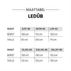 Ledub business overhemd Tailored Fit 0043548 in het Offwhite