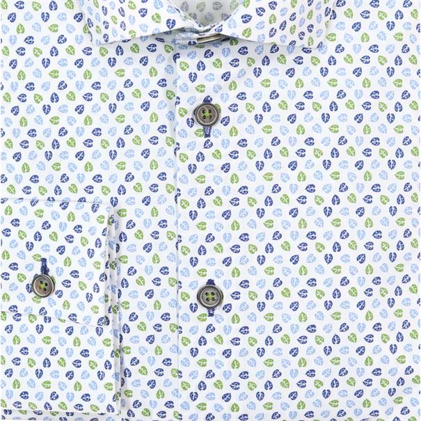 Ledub business overhemd Tailored Fit 0137792 in het Wit/Groen