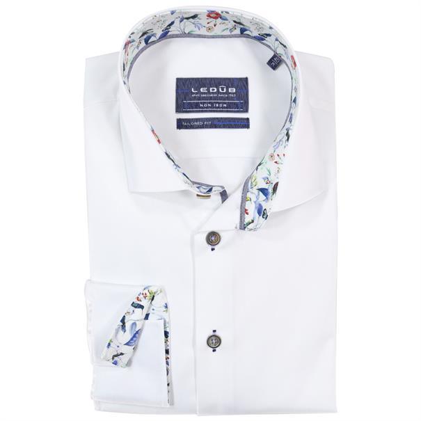 Ledub business overhemd Tailored Fit 0137820 in het Wit