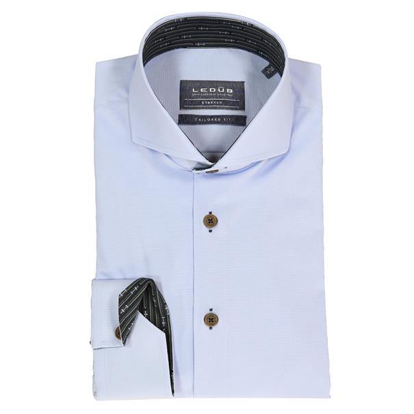 Ledub business overhemd Tailored Fit 0138318 in het Licht Blauw