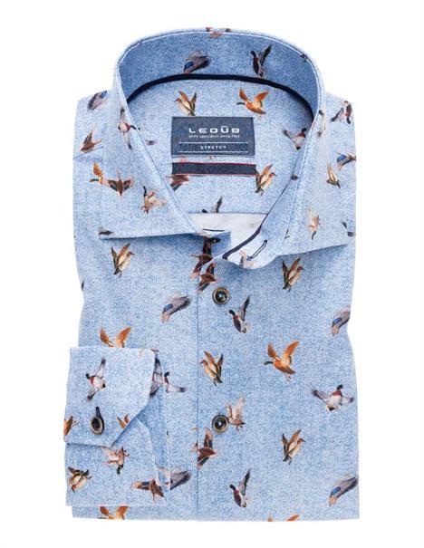 Ledub business overhemd Tailored Fit 0138338 in het Licht Blauw
