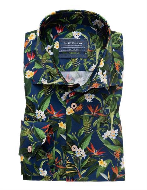 Ledub business overhemd Tailored Fit 0138848 in het Blauw