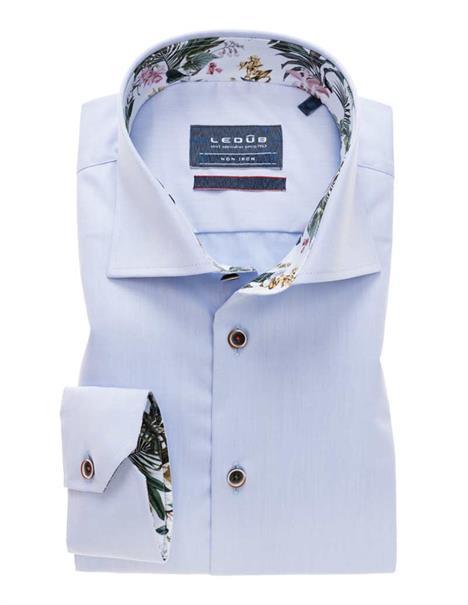 Ledub business overhemd Tailored Fit 0138928 in het Licht Blauw