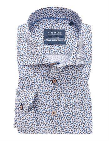 Ledub business overhemd Tailored Fit 0138947 in het Blauw