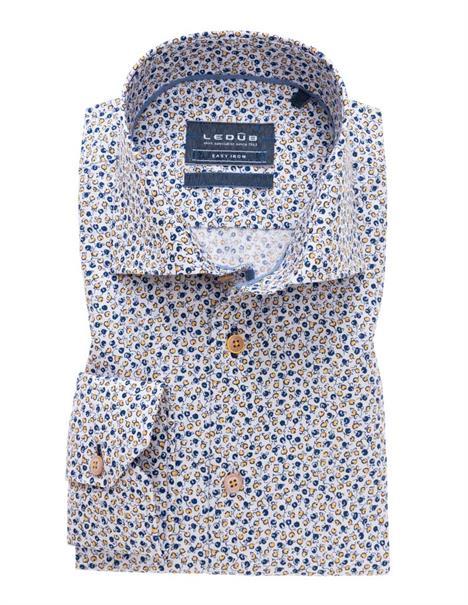 Ledub business overhemd Tailored Fit 0138947 in het Oker