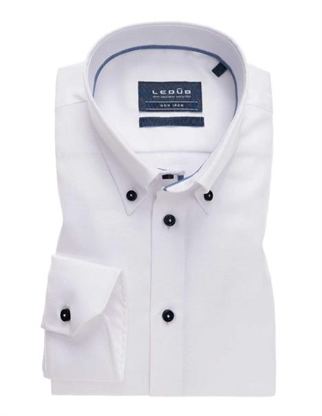 Ledub business overhemd Tailored Fit 0139093 in het Wit/Blauw