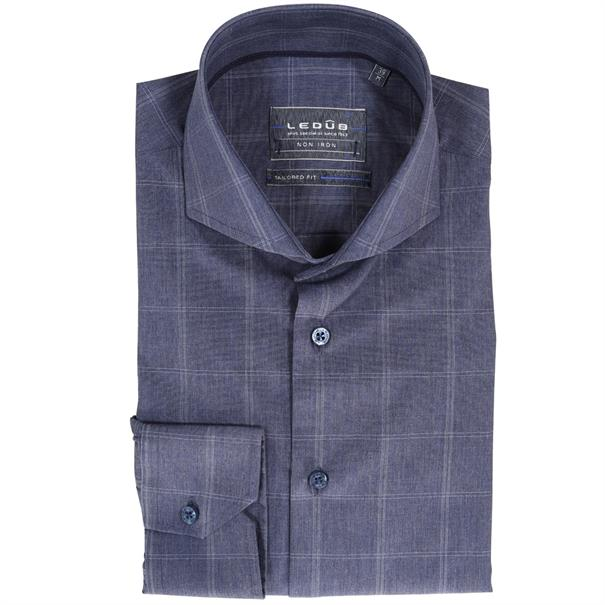 Ledub business overhemd Tailored Fit 0511140 in het Blauw