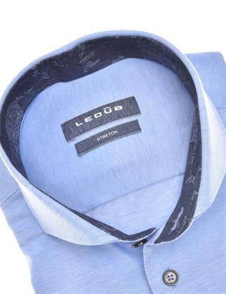 Ledub jersey overhemd 0140483 in het Blauw