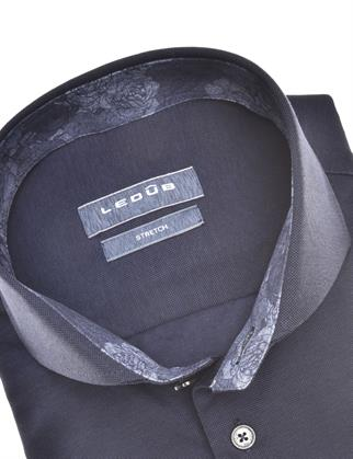 Ledub jersey overhemd 0140483 in het Wit/Blauw