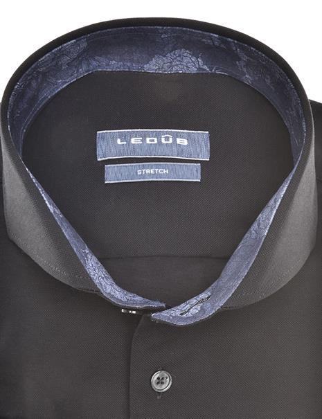 Ledub jersey overhemd 0140483 in het Zwart