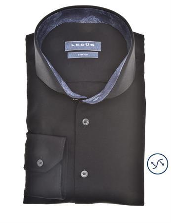 Ledub jersey overhemd 0140484 in het Zwart
