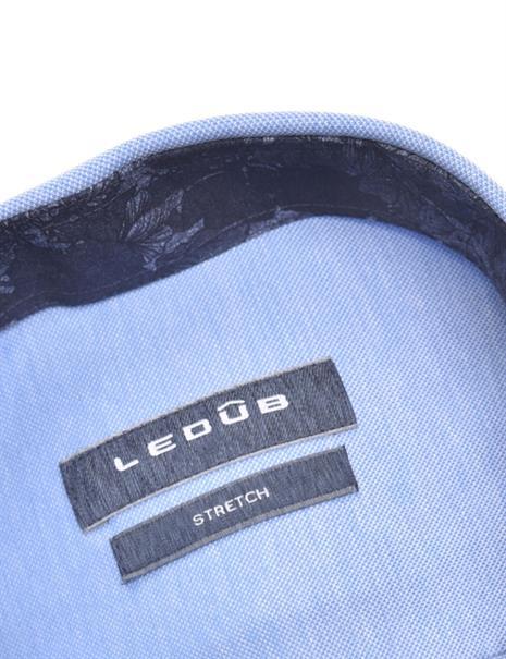 Ledub jersey overhemd 0140486 in het Blauw