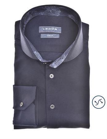 Ledub jersey overhemd 0140486 in het Wit/Blauw