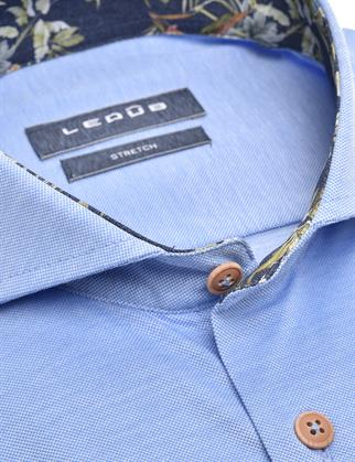 Ledub jersey overhemd Modern Fit 0139987 in het Blauw