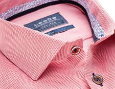 Ledub overhemd 0137782 in het Rood