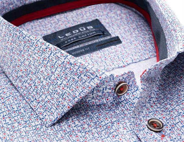 Ledub overhemd 0137789 in het Rood