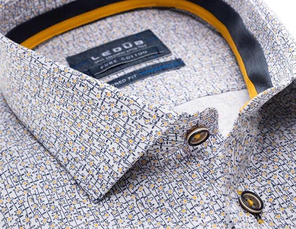 Ledub overhemd 0137790 in het Geel