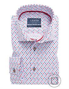 Ledub overhemd 0137793 in het Rood