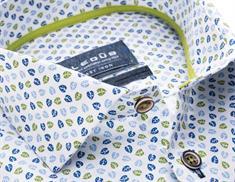 Ledub overhemd 0137793 in het Wit/Groen