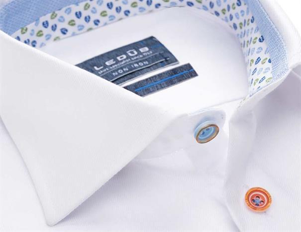 Ledub overhemd 0137838 in het Wit