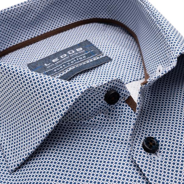 Ledub overhemd 0139132 in het Donker Blauw