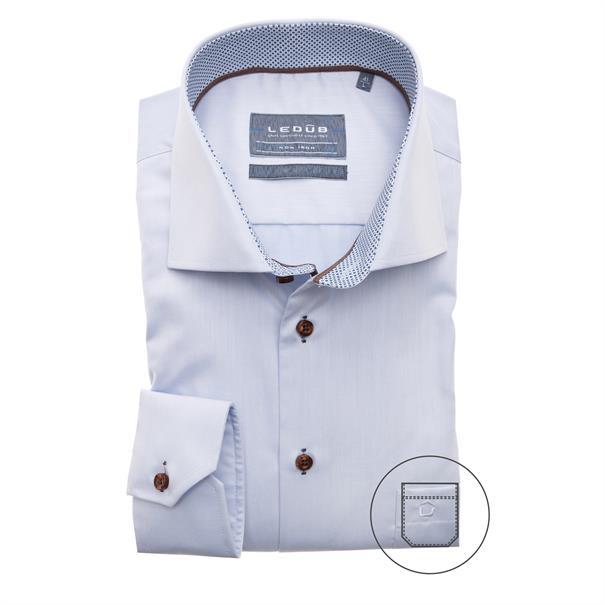 Ledub overhemd 0139139 in het Licht Blauw