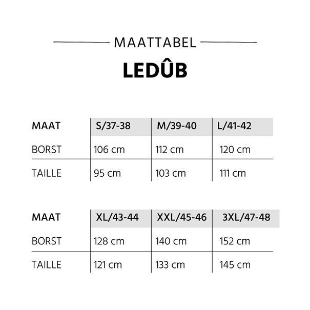 Ledub overhemd 0700100 in het Wit