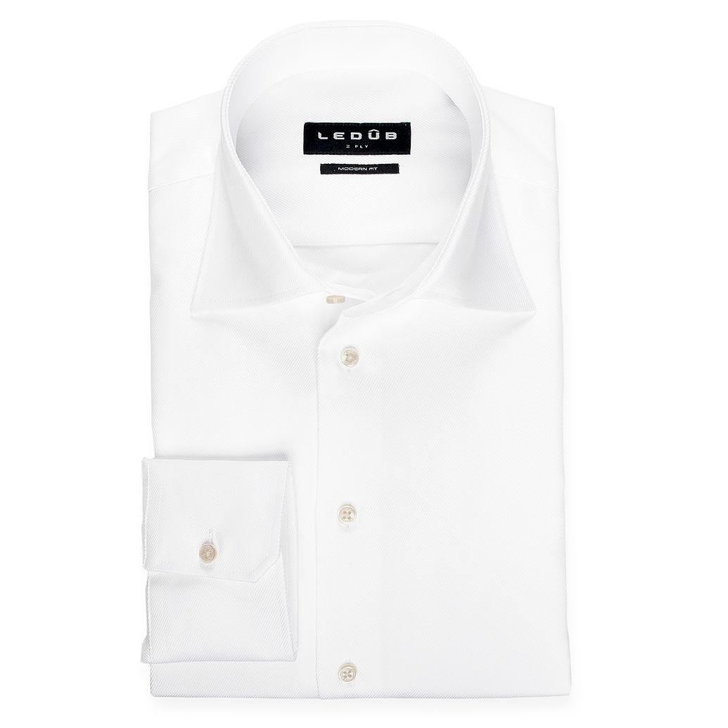 Ledub overhemd Modern Fit 0022720 in het Wit