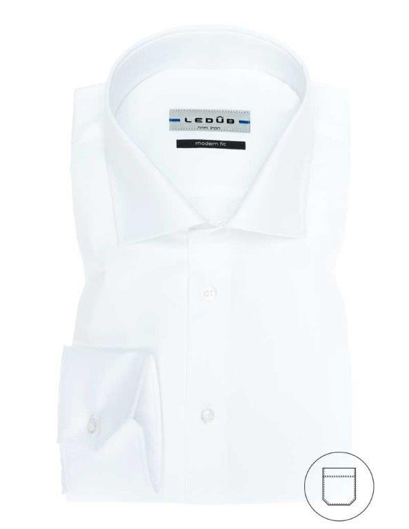 Ledub overhemd Modern Fit 0023528 in het Wit