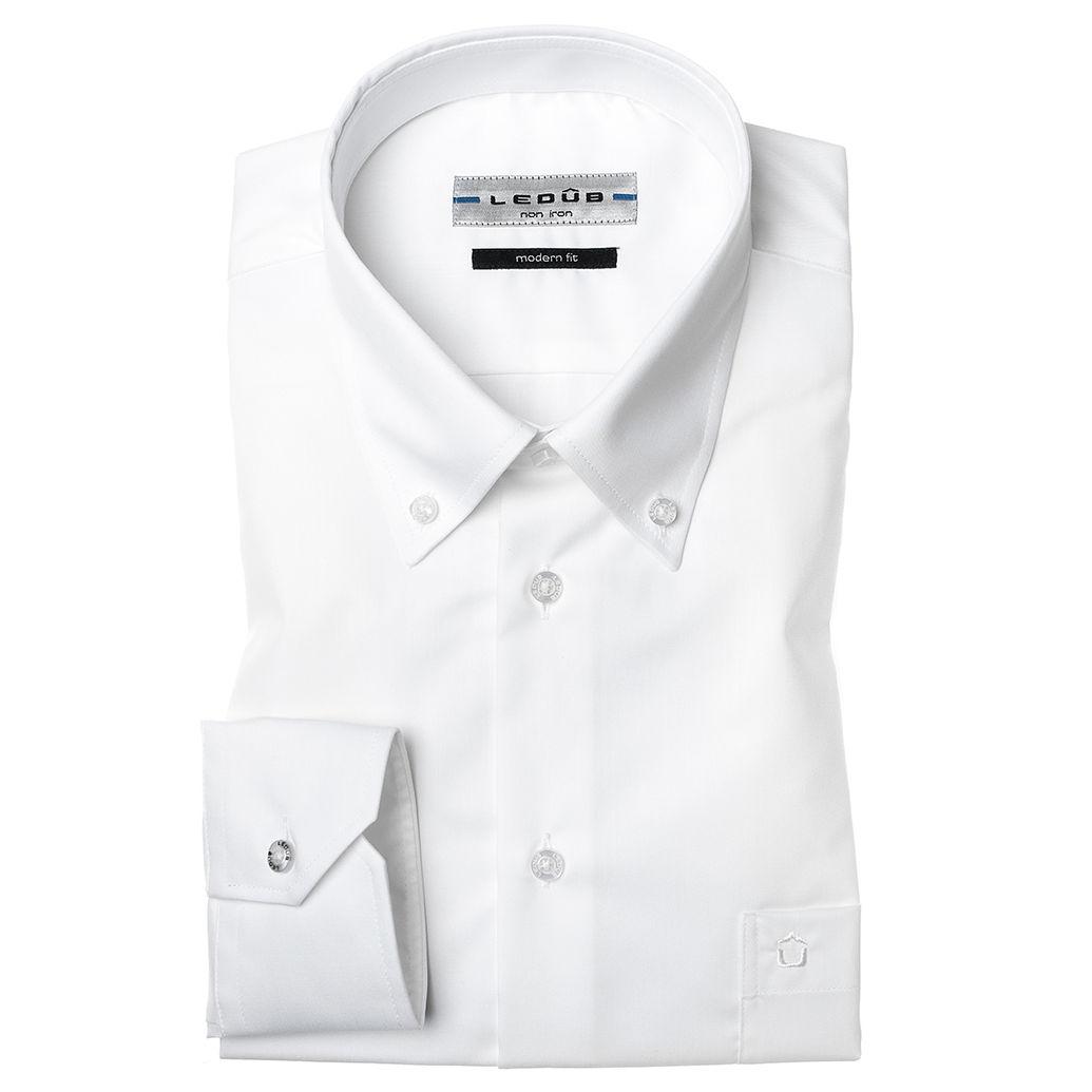 Ledub overhemd Modern Fit 0023538 in het Wit