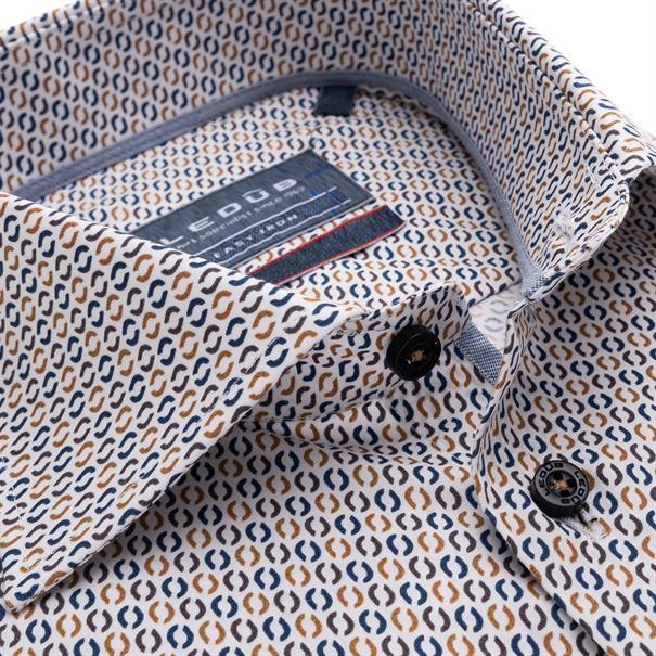 Ledub overhemd Modern Fit 0139163 in het Bruin