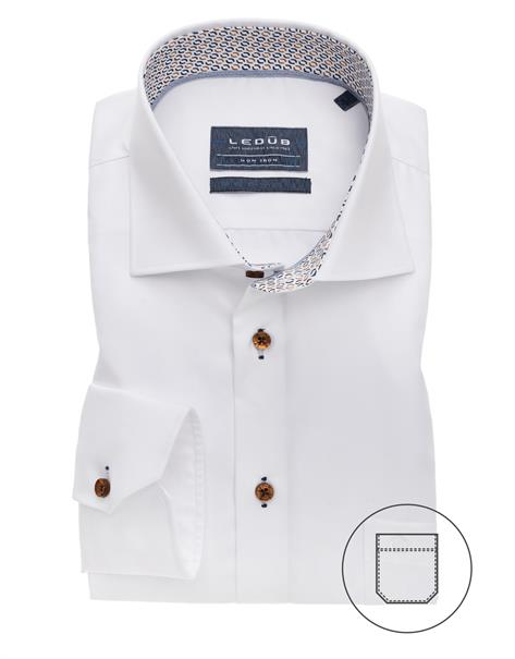 Ledub overhemd Modern Fit 0139171 in het Wit