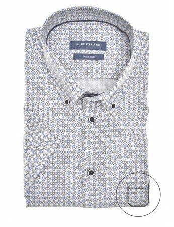 Ledub overhemd Modern Fit 0139913 in het Blauw