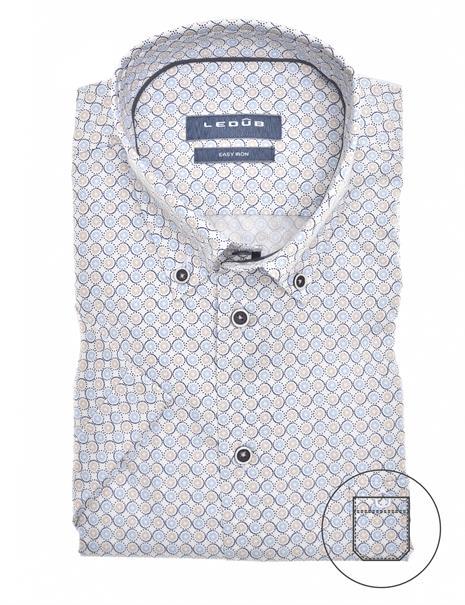 Ledub overhemd Modern Fit 0139913 in het Licht Blauw